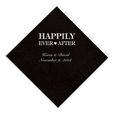Happily Ever After Wedding Reception Napkins - Sets of 100 - Multiple Colors
