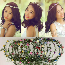 Party Wedding Bridesmaid Floral Flower Festival Forehead Headband Hair Garland