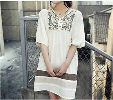 Summer Maternity Clothes Cotton Broadcloth Shirt Casual Short Sleeve Free Size