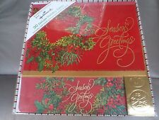 30CT HOLIDAY HALLMARK EXPRESSIONS DELUXE CHRISTMAS CARDS W/ ENVELOPES NIB