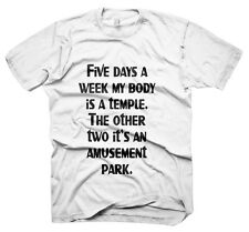 Mens Funny Saying T-Shirts-My Body Is A Temple-Funny Tees For Men