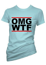 Womens Funny Sayings T Shirts-OMG WTF My God What The F**K-Ladies Offensive Tees