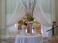 "Wedding Sheer White or Ivory Drapes, 15'x116"", for backdrop or wall covering"