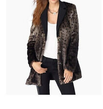 Juicy Couture Cheetah Print Faux Fur Coat