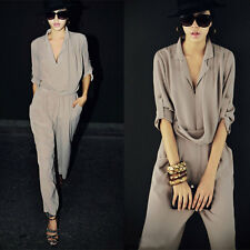 high quality Women's High Waist Long Sleeve Chiffon Harlan Jumpsuits New tags