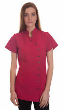 Salon Spa Beauty Beautician Hairdressers Nail Uniform Tunic In Hotpink
