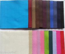 PLAIN COTTON 100% TWILL CLOTHING CRAFT UPHOLSTERY MATERIAL FABRIC EXTRA WIDE
