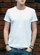 SINGLE GILDAN PREMIUM COTTON PLAIN T-SHIRT WHITE GREY BLACK QUALITY BLANK TSHIRT