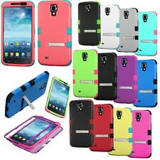 For Samsung Galaxy Mega 6.3 Phone Advanced HYBRID Metal STAND Rubber Case Cover