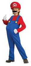 Mario Super Mario Brothers Nintendo Plumber Fancy Dress Halloween Child Costume