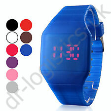 Black LED Mens Ladies Touch Screen Light Sport Ultra-thin Wrist Watch UK Seller