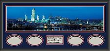 USA City Skylines Deluxe Framed D/Mats- 4 Photos Opening/Name Plaque-A to M- New