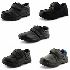 New Boys Kids US Brass Casual Smart Uniform Velcro Fastening Shoes UK Size 8-3