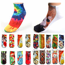 Various Printed Unisex Low Cut Ankle Socks Harajuku Style Cute WHF196