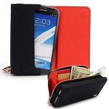 Kroo Signature Wristlet Wallet Case Handbag fits Pantech and Mobile Cell Phones