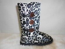 UGG Boots 3 Buttons Synthetic Wool Colour Black Leopard Multi Size