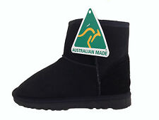 Australian Genuine Sheepskin Mini UGG Boots Black Colour Australian Made