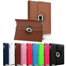 Rotating Magnetic Stand Case Smart Cover for Apple iPad 2 3rd 4th Generation