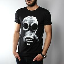 Stylish Man T-shirt Hot Tops Tee Casual Doctor Who Scary Gas Mask S,M,L,XL Black