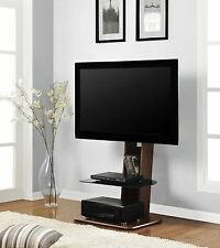 Wood TV Stand With Mount Flat Screen TV Stand Entertainment Center LCD LED 3D
