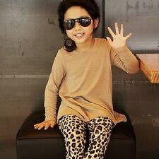 Baby Kids Girls Toddlers Leopard Leggings Pants Infants Trousers Ages 1-6Yrs