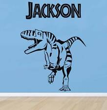 PERSONALIZED DINOSAUR Decal WALL STICKER Art Decor Kids Bedroom T-Rex Name ST45