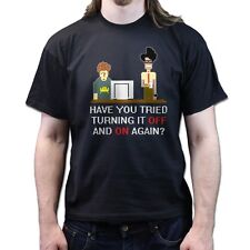 The IT Crowd Maurice Roy Have You Tried Turning it Off On 8bit BluRay DVD Tshirt