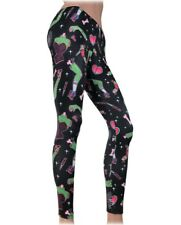 Liquorbrand Pin Up Zombie Stretch Light Leggings Rockabilly Tattoo Derby Pants