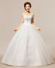 IN STOCK White Deb Dress Bridal Gown Prom Ball Evening Wedding Quinceanera Dress