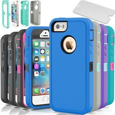 Heavy Duty Hybrid Dirt Shockproof Hard Armor Case Cover For Apple iPhone 5C 5 5S