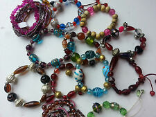 Handmade glass bead bracelets, different styles and colours