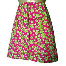 LILLY PULITZER Monica Ladybug Floral Snap Front Skirt Pink/Green 4 6 8 10