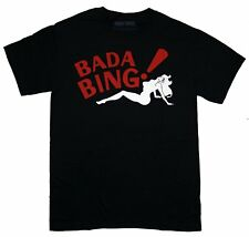 Adult Black Italian Mafia Drama TV Show The Sopranos Bada Bing Woman T-Shirt Tee