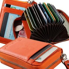New Men Women Top Genuine Leather Wallet ID Credit Cards Holder Organizer Purse