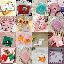 New Cute Design Bakery Peel&Seal Cake Cookies Candy Bags Fit wedding/Sweet/Party