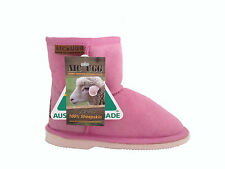 GENUINE SHEEPSKIN UGG BOOTS Lady's  Mini  UGG Boots Colour Pink  Australian Made
