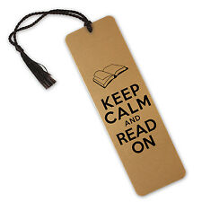 Keep Calm And Read On, Book Design On Aluminium Metal Bookmark