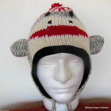 Nepalese Handknitted 100% Wool Soft Warm Animal Beanie Knitted Unisex Winter Hat