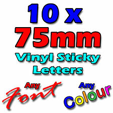 """75mm/3"""" Self Adhesive Sticky Vinyl Letters Signs, Shops, Vans, Crafts - Stickers"""