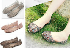 New Women Lady Style Ventilate Crystal Jelly Hollow Bird's Nest Sandal
