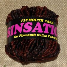 Plymouth Sinsation Chenille Yarn in color Brown #706