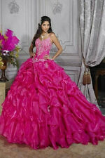 Sexy Prom Ball Gown Quinceanera Dress Wedding Dresses Evening Party Gowns Sizes
