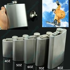 4-8OZ Stainless Steel Portable Hip Flask Alcohol Whiskey Liquor Wine Pot Flagon