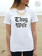 * THUG WIFE T-shirt Top Tumblr Fashion Swag Dope Hype Trill Blogger Wifey Life *