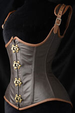 2014 Noble Blanew Sexy women Grand Steampunk Leather Clasp Corset LC5323