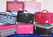 """Caboodles ® """"I Candy"""" Vanity Valet Cosmetic Travel Carrying Case NEW - 2 Levels"""