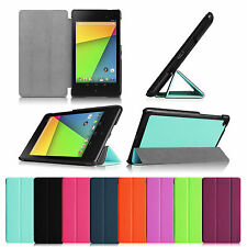 Slim PU Leather Smart Shell Case Stand Cover for 2013 Google Nexus 7 FHD 2nd Gen