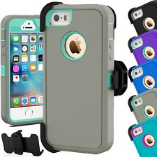 Heavy Duty Hybrid Series Hard Case w/ Clip For Apple iPhone 5C and iPhone 5/5S