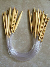 """Bamboo Circular Knitting Needles 16"""" - Your Choice Of Size - Ships From USA"""