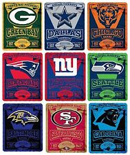 "Brand New NFL Teams New Logo Large Soft Fleece Throw Blanket 50"" X 60"""